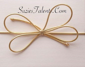 """GOLD - 25 Metallic 6"""" Stretch Loops - Baby Shower Favor Loops, Wedding Favors."""