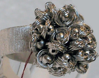 "Brazil Ring ""Balls and Rings"" Silver"