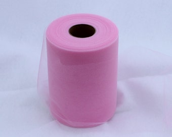 Pink tulle roll - 6 inches - 100 yard - Pink rolls - tulle rolls - Pink fabric - Pink tutu