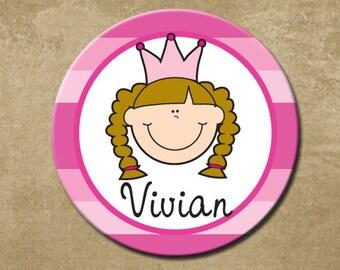 Personalized Melamine Plate, Princess Plate, Girls Plastic Plate, Birthday Plate, Girls Birthday Gift, Pretty Princess