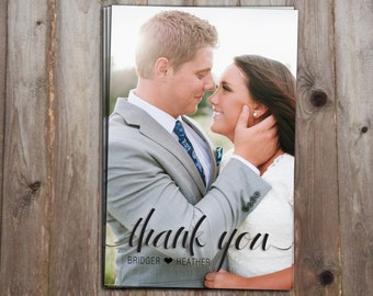 Thank you Postcard- From Bride & Groom