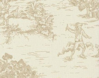 Pastoral Toile Linen  By The Yard
