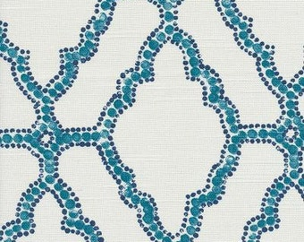 Lacefield Kai Cyan, Fabric By The Yard, Lacefield Fabrics