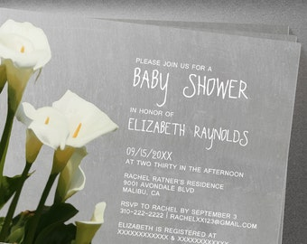The invitation snob proudly displaying the newest invite designs calla lily baby shower invites filmwisefo