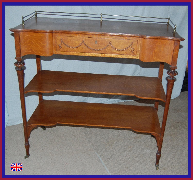 Antique english oak server buffet sideboard beautiful