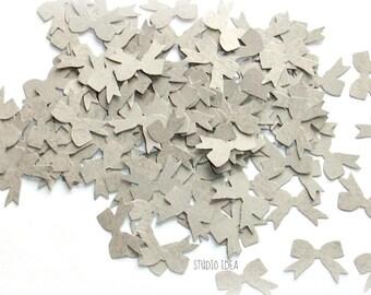120 Light Kraft  Bow Cut-outs, Confetti - Set of 120 pcs