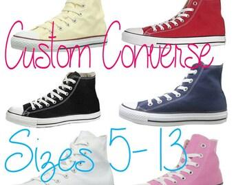 Simple Design Custom Converse (Adult sizes)