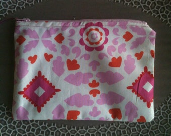 Sweet and Pink Zippered Pouch