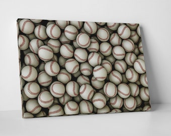 Baseballs. Gallery Wrapped Canvas Print