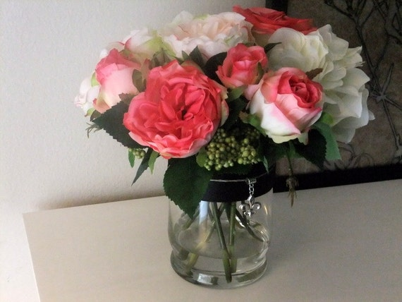 English Rose Faux Arrangement