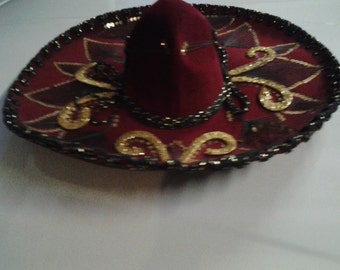 Beautiful Vintage Mexican Sombrero Charro Hat