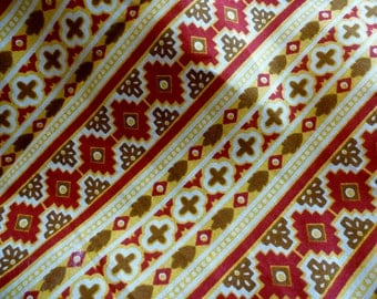 Tribal Cotton Fabric by the Yard, Cotton Yardage, Fabric by the Yard