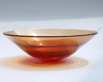 Blown Glass Bowl, Scarlet