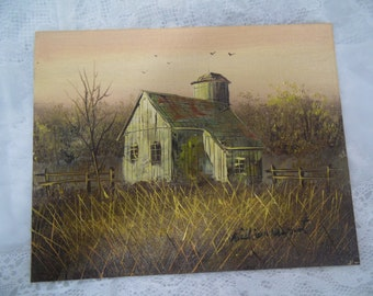 PRICE REDUCED~ Antique William Newport Oil Painting on Plywood 1920's