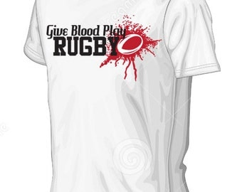Give Blood Play Rugby - Men's Rugby Shirt - Rugby Slogan, Rugby Life, Mens shirts,
