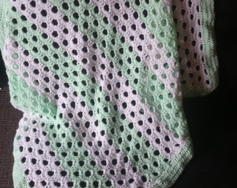 crocheted baby blanket,