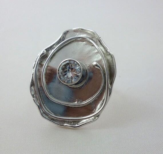spiral ring sterling silver ring