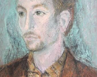 Oil painting vintage male portrait