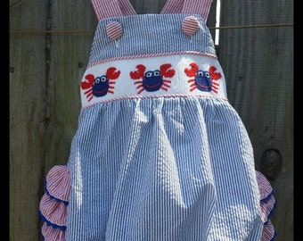 Girls crab romper