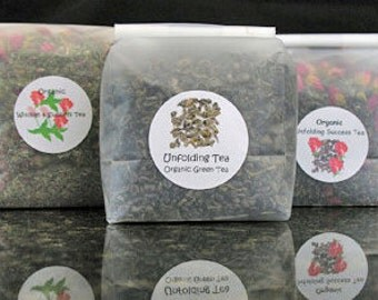 Handcrafted Organic Green Teas, Gift Teas, Loose Teas, Inspiring Teas with Lavender or Rosemary or even Rosebuds