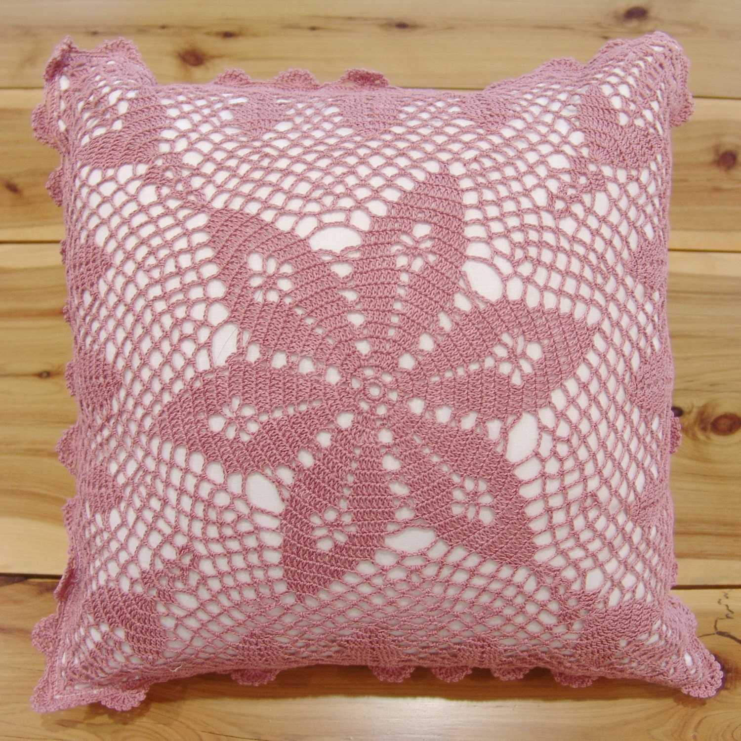 Hand Crochet Lace Cushion Cover Throw Pillow Cover Hand Made