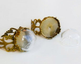 Hollow bead ring - glass globe ring filling
