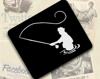 Fly Fishing fisherman Large Mousepad Mouse Pad Great Gift Idea LMP411