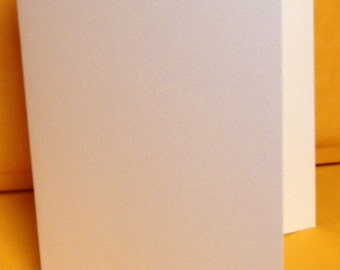100 scored white 4x5 folded size note greeting cards 80 lb smooth cover stock A2