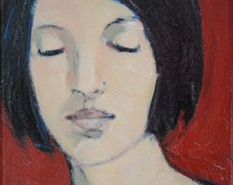 "Original Painting ""Jane"" 25cm x 20cm Acrylic on Canvas by Kai Hagberg"