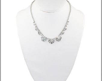 Vintage Rhinestone Starburst Necklace