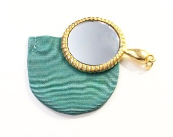 Purse Mirror with Green Colorful Case
