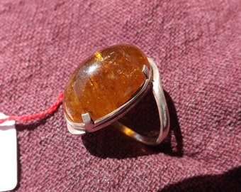 925 silver ring .  Tourmaline
