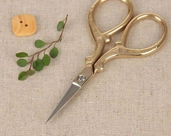 Antique Scissors Stainless Scissors For Handmade Crafts Zakka Sewing Supplies 1pcs