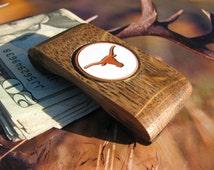 Longhorns Wallet Money Clip , Longhorns wallet, Texas Money clip, Longhorns money clip, Longhorns Wallet, cool money clip
