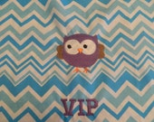 Owl & Chevron  VIP Chair Pocket (1 Chair Pocket)