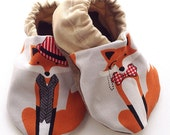 Mr. Fox Soft Sole Baby Shoes, booties, pram shoes