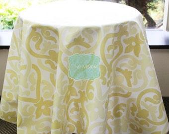 Tablecloth - Premier Prints - Alex - Saffron Yellow - Choose Your Size - Table Linen - Home Decor - Wedding Decor - Dinner Kitchen Table