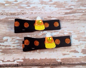 Cutest Lil Candy Corn Clippies (Set of 2)