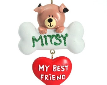 Dog Best Friend Christmas Ornament