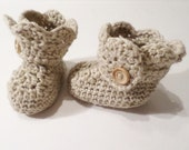 Crochet Baby Shoes - Newborn Crocheted Baby Booties - Baby Girl Booties - Handmade Fashion Baby Booties - Made to order