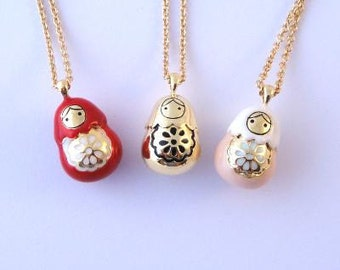Babushka Russian Doll Necklace