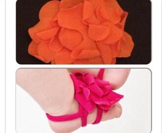 Orange barefoot sandal 0-12 month