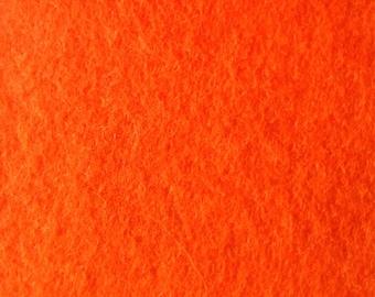 100% Wool felt. Orange