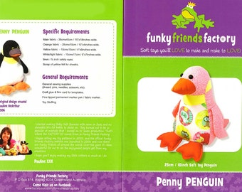 Penny Penquin by Funky Friends Factory pattern only