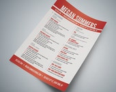 Swiss Style Resume Photoshop .PSD Template - Easy Editing, Layered, Change Colors and Details Fast