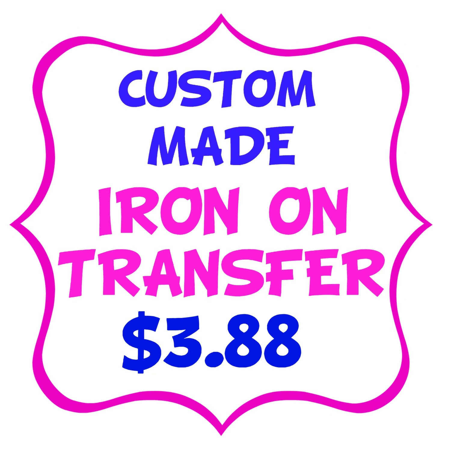 Custom made iron on transfer tshirt shirt image printable for Create your own iron on transfer for t shirt