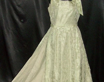 Vintage 1950's Double Layer Formal Dress Gown 36