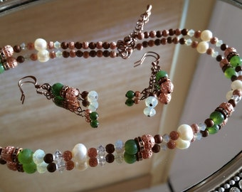 Copper Jade Set