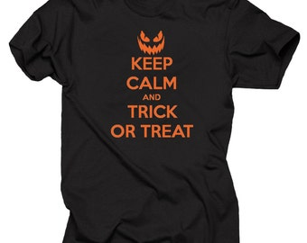 Keep calm and trick or treat T-shirt Halloween Tee Shirt Tee Shirt Halloween Tee Shirt Halloween Costume