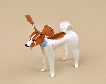 Papillon Dog Sculpture Handmade Copper Miniature Collectible Art